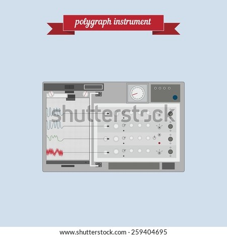 Polygraph instrument. Flat style design - vector - stock vector