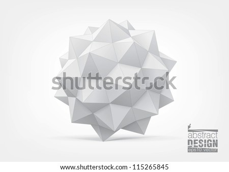 Polyhedron for graphic design. You can change colors, eps10 vector - stock vector