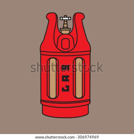 Polymer composite gas cylinder - stock vector