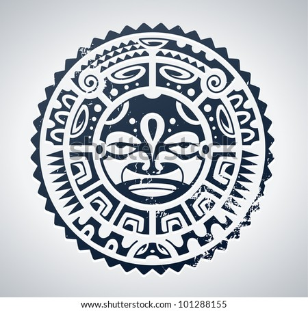 Polynesian tattoo styled vector illustration. - stock vector