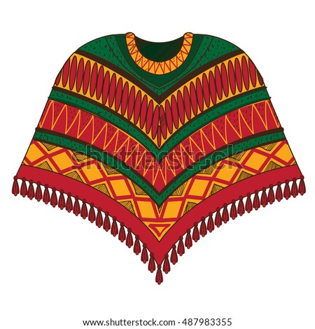Poncho Stock Vectors Images Amp Vector Art Shutterstock