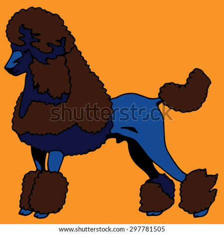 Poodle Dog - stock vector