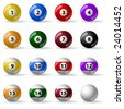 Pool - billiard balls - stock vector