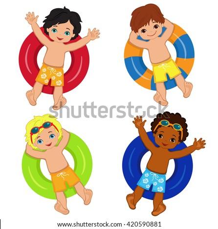 pool splash vector. Pool Party For Boys.Vector Illustration. Splash Vector