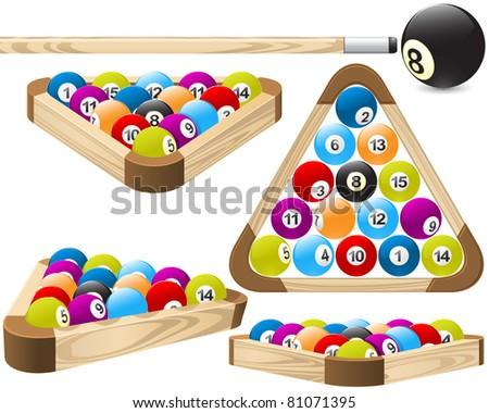 Pool rack (billiards) - stock vector