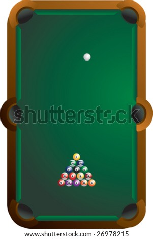 pool table - stock vector