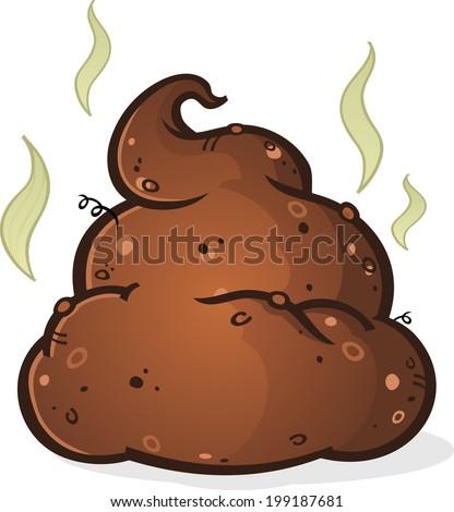 Poop Pile Cartoon - stock vector