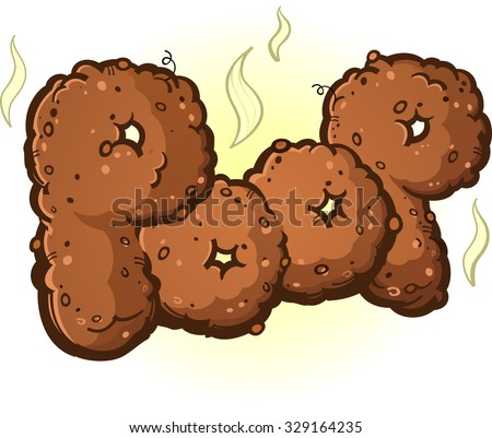 Poop Word made of Turd Letters - stock vector