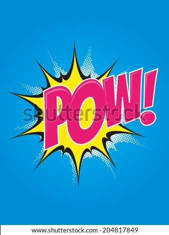 pop-art cartoon explosion - stock vector
