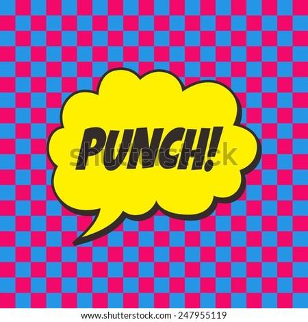 pop art comic punch - stock vector