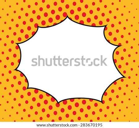 Pop art design over pointed background, vector illustration - stock vector