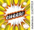 Pop Art explosion Background cheer! - stock vector