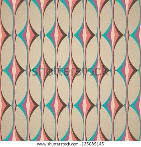 pop art pattern, abstract seamless texture; rhombus vector pattern - stock vector