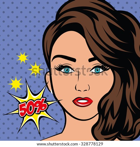 Pop art  sexy and beautiful women design, vector illustration