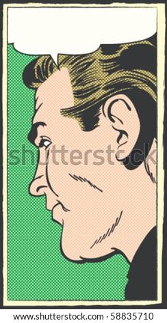 Pop Art Vector Illustration of a Man - stock vector