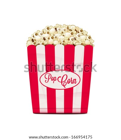Popcorn - stock vector