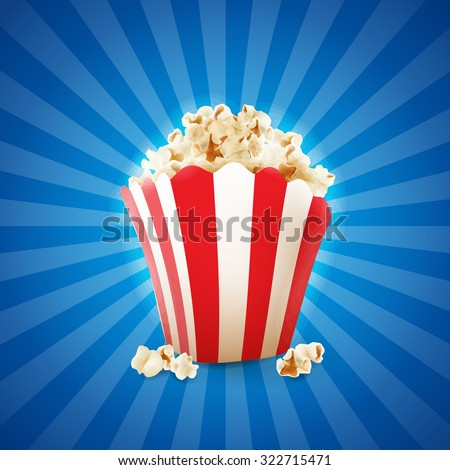 popcorn banner - stock vector