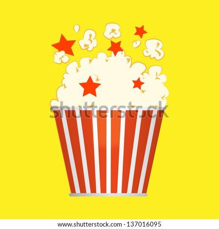 popcorn bucket - stock vector
