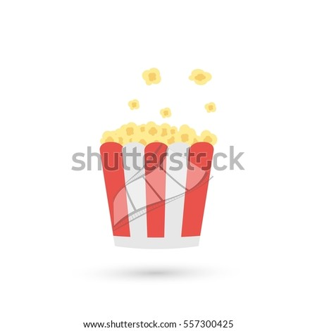 Popcorn. Cinema icon. Vector illustration