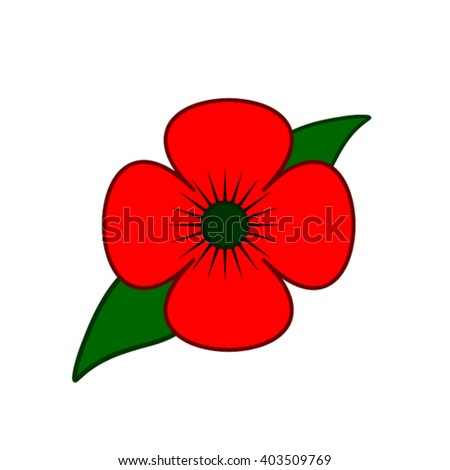 Poppy. - stock vector