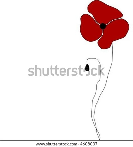 Poppy - stock vector
