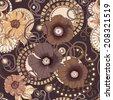 Poppy flower seamless pattern . Eps 10. - stock vector