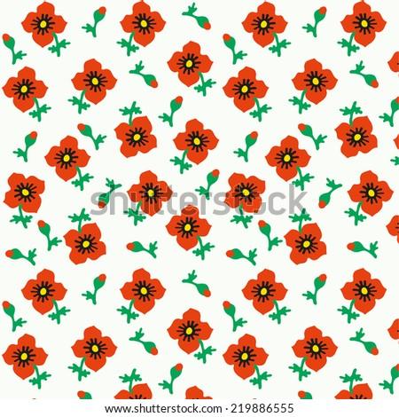 Poppy pattern. - stock vector