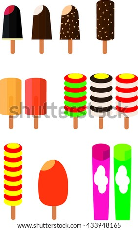Popsicles - stock vector