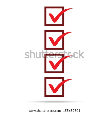 popular check list symbol right mark isolated vector - stock vector
