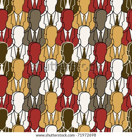 population - group of people pattern seamless 3d dimension - stock vector