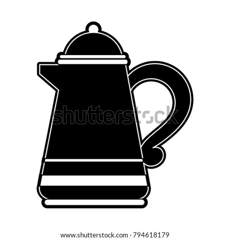 Porcelain kettle isolated
