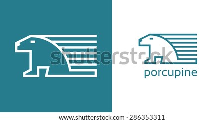porcupine - stock vector