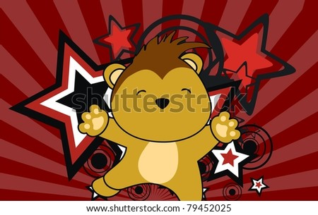 porcupine jump cartoon background in vector format