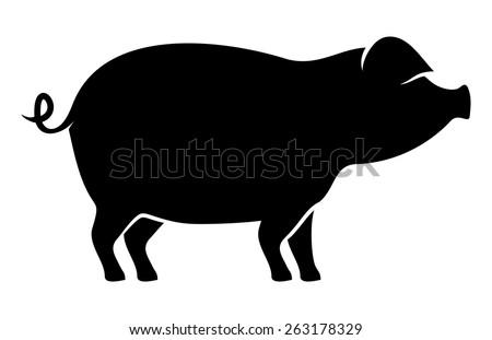 Pork vector icon - stock vector