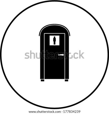 portable bathroom - stock vector