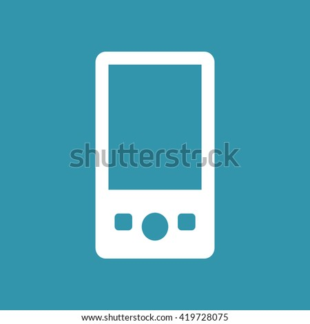 Portable Media Player Icons. Eps-10. - stock vector