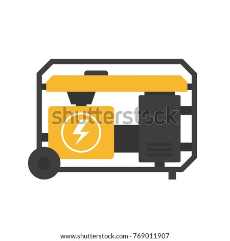 power generator icon. Plain Power Portable Power Generator Icon Clipart Image Isolated On White Background Inside Power Generator Icon W