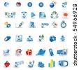 Portfolio icons set - stock vector
