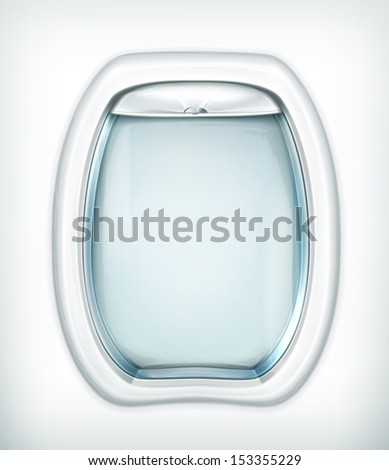 Porthole, transparency effect - stock vector