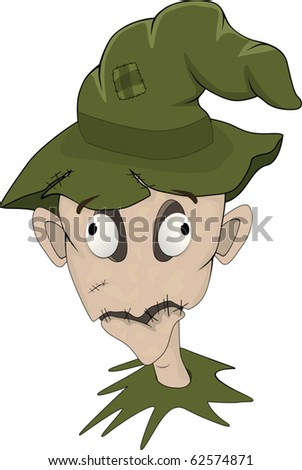Portrait of a stuffed animal and hat of the wizard - stock vector