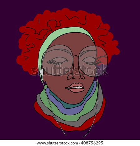 Portrait of an afro ethnic woman with eyeglasses