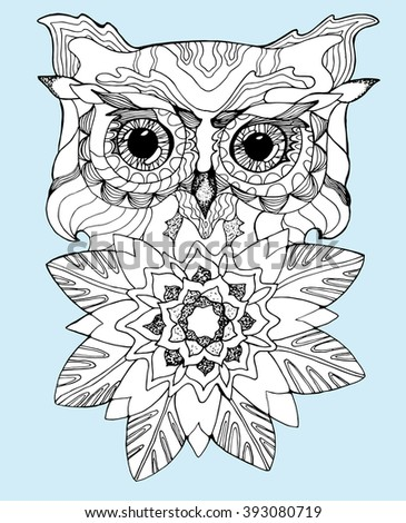Stock Images similar to ID 346925498 - abstract owl patterns