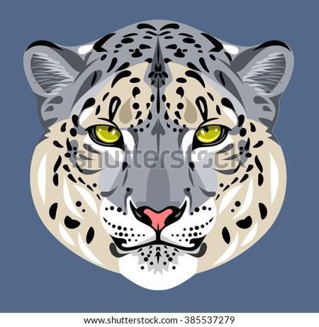 Portrait of leopard muzzle - stock vector