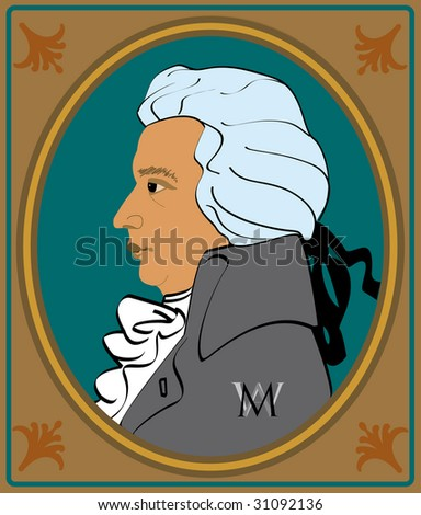 portrait wolfgang amadeus mozart in frame