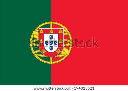 Portugal flag illustration - stock vector