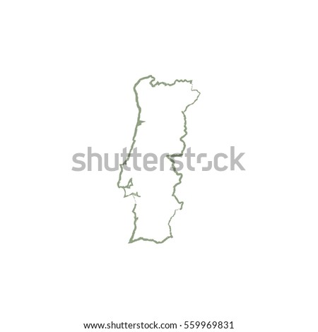 Map Portugal Stock Vector Shutterstock - Portugal map icon