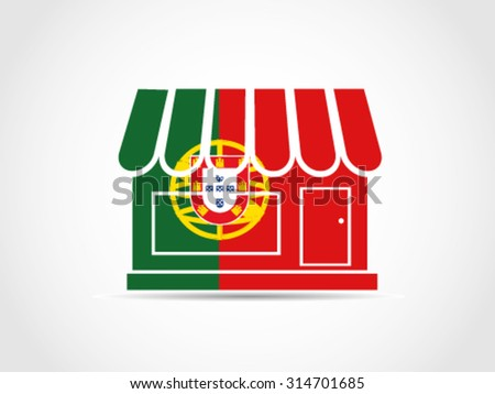 Portugal Store - stock vector