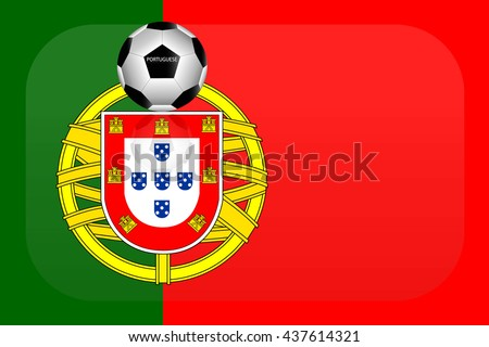 Portuguese flag - stock vector