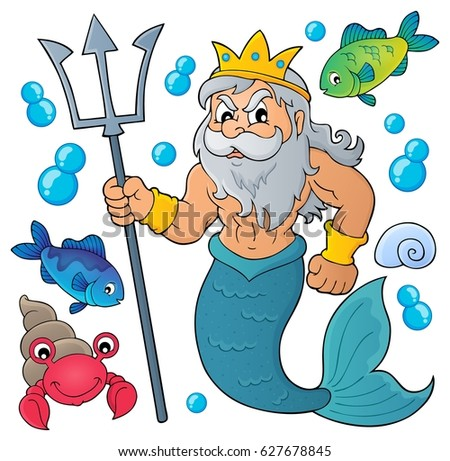 Poseidon theme image 1 - eps10 vector illustration.