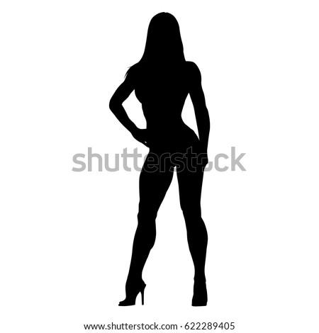 Sexy Woman Vector Silhouette Stock Vector 322032800